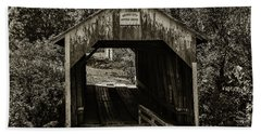 Grange City Covered Bridge - Sepia Beach Sheet