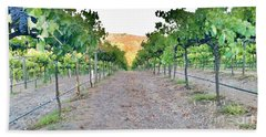 Grape Vines Beach Towel