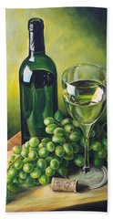 Grapes And Wine Beach Towel