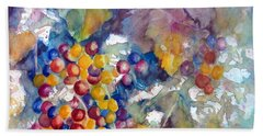 Grapes On The Vine Beach Towel