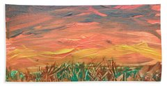 Grassland Sunset Beach Sheet by David Trotter