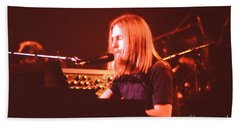 Beach Towel featuring the photograph Grateful Dead Concert - Brent Mydland by Susan Carella