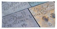 Grauman's Chinese Theatre Marilyn Monroe Beach Sheet