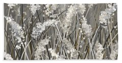 Gray Blossoms- Shades Of Gray Art Beach Towel