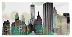 Gray City Beams Beach Towel by Susan Bryant