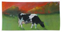 Grazing Cow Beach Towel