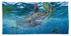 Great Blue And Mahi Mahi Underwater Beach Towel
