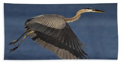 Beach Sheet featuring the photograph Great Blue Heron by J L Woody Wooden