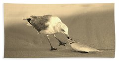 Beach Sheet featuring the photograph Great Catch With Fish by Cynthia Guinn