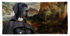 Great Dane Art - The Boar Hunt Beach Towel