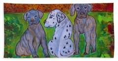 Great Dane Pups Beach Sheet