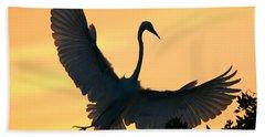 Beach Towel featuring the photograph  Sunset Ballet by John F Tsumas