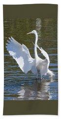 Great Egret Symphony Beach Sheet by Carol Groenen