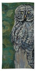 Great Gray Beach Towel by Phil Chadwick