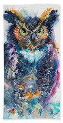 Great Horned Owl Beach Sheet