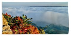 Great River Road Fog Beach Towel