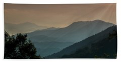 Great Smoky Mountains Blue Ridge Parkway Beach Towel by Patti Deters