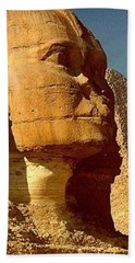 Beach Towel featuring the photograph Great Sphinx Of Giza by Travel Pics