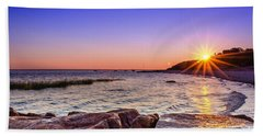 Beach Towel featuring the photograph Saints Landing Cape Cod by Mike Ste Marie