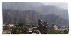 Great Wall Of China At Badaling Beach Towel