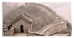 Great Wall Of China Beach Sheet