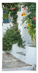 Greek House Beach Towel