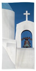 Greek Island Church Beach Towel