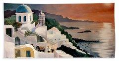 Greek Isles Beach Sheet by Marilyn Smith