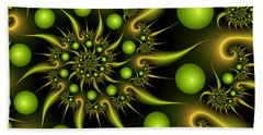 Beach Sheet featuring the digital art Green And Gold by Gabiw Art