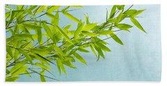Green Bamboo Beach Towel