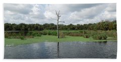 Beach Towel featuring the photograph Green Cay Panorama by Ron Davidson