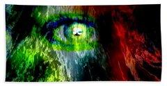 Green Eyed Beach Towel