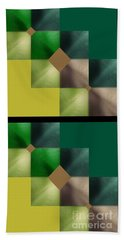 Green Glow Check Beach Towel