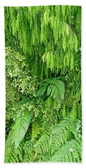Green Green Beach Towel