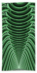 Beach Towel featuring the digital art Green Hall by Anastasiya Malakhova