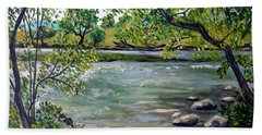 Green Hill Park On The Roanoke River Beach Towel
