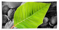 Green Leaf Beach Towel