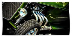 Old Cars Beach Towel featuring the photograph Green Machine  by Aaron Berg