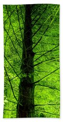 Green On Green Beach Towel