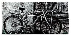 Beach Towel featuring the painting Green Park Way by Ecinja Art Works