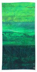 Green Pastures Beach Towel by Jocelyn Friis