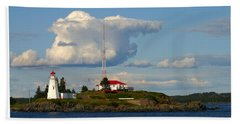 Green Point And Keepers Cottage Beach Towel