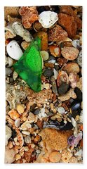 Green Sea Glass Beach Towel