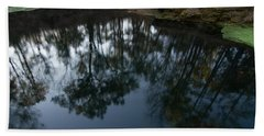 Beach Sheet featuring the photograph Green Sink Reflection by Paul Rebmann