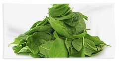Green Spinach Beach Towel