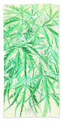 Beach Towel featuring the photograph Green Splender by Jamie Lynn