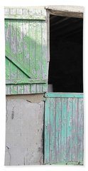 Green Stable Door Beach Sheet
