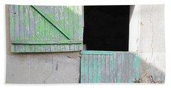 Green Stable Door Beach Towel