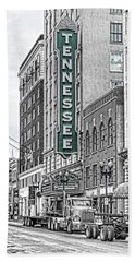 Green Tennessee Theatre Marquee Beach Towel