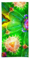 Green Thing 2 Abstract Beach Towel